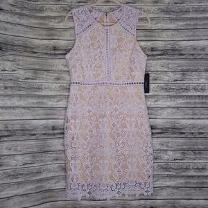 Lulu's Purple Lilac Crochet Lace Dress NWT
